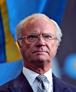 Carl XVI Gustaf, King of Sweden, on Sweden's National Day June 6 2009 at Skansen in Stockholm. Source: Bengt Nyman / Wikimedia Commons.