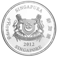 Singapore / 2 dollars / Cupro-nickel / 20.00 g / 38.70 mm / Mintage: 6,000.