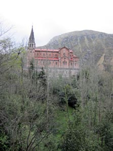 The Neo-Gothic Church Above Covadonga. Photo: KW.