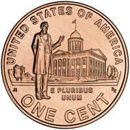 Lincoln Cent commemorative reverse, designed by Joel Iskowitz, which he says was the
