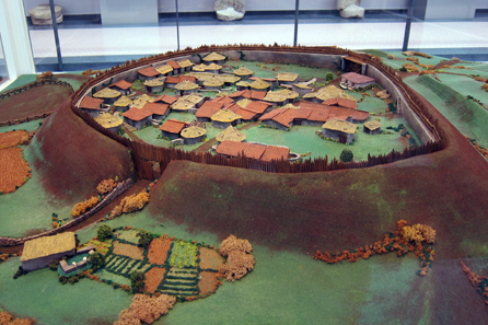 A model of the Celtic Settlement of Viladonga. Photo: KW.