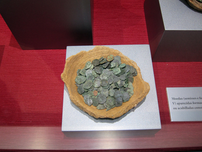 Small Coin Hoard of Bronzes from the 4th and 5th Centuries AD. Photo: KW.