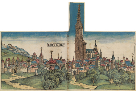 A View of the City of Strasbourg from 1493.