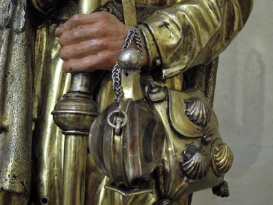 Detail from a Saint James Statue in the Cathedral Museum of Burgos. Photo: KW.