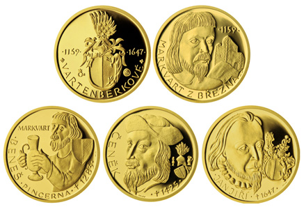 The gold medals have a diametre of 16.00 mm weighing 3.11 g and are designed by Majka Wichnerová. They are struck in .9999 gold and limited to only 500 pieces.