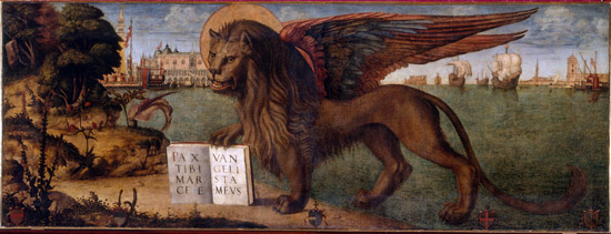 Vittore Carpaccio, Lion of San Marco, 1516. Doge's Palace, Venice. © 2012. Photo Scala, Florence.