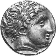 Celts. Helvetii? Stater of Soy-Type, after 250. Head of Apollo with laurel wreath facing right. Rev. Biga galloping towards the right.