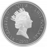Niue / 2 NZD / 999 silver coloured / 40.7 mm / Mintage: 5,000.