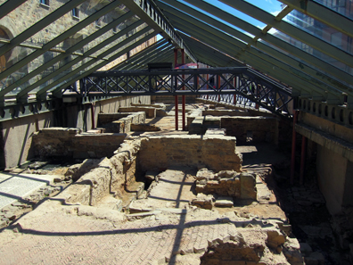 There are Roman remains all over Astorga. Photo: KW.
