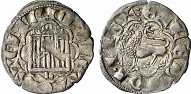 Alfonso X, King of Leon and Castille 1252-1284. Noven, Leon. From Künker auction 137 (2008), 3429. Photo: KW.
