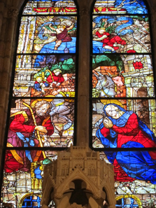A magnificent glass window inside the cathedral. Photo: KW.