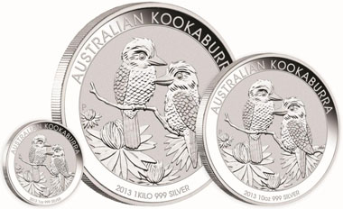Australia / 999 silver / Denominations: 1 AUD / 1oz / 31.135 g / 40.60 mm / Mintage: 1,000,000 // 10 AUD / 10oz / 311.347 g / 75.60 mm // 30 AUD / 1 kilo / 1,001.002 g / 100.60 mm. Mintage if not otherwise indicated: unlimited.