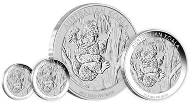 Australia / 999 silver / Mintage: Unlimited / Denominations: 0.5 AUD / 1/2oz / 15.591 g / 36.60 mm // 1 AUD / 1oz / 31.135 g / 40.60 mm // 10 AUD / 10oz / 311.347 g / 75.60 mm // 30 AUD / 1 kilo / 1,001.002 g / 100.60 mm.