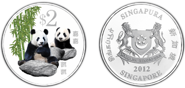 Singapore / 2 SGD / Cupro-Nickel, coloured / 20 g / 38.70 mm / Mintage: 10,000.