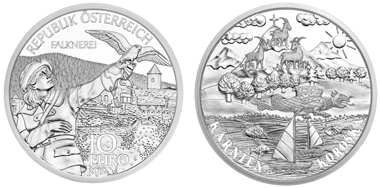 The new coin featuring the province of Carinthia.