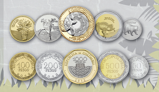 The new series of the Colombian Peso. Courtesy of the Central Bank of Colombia.