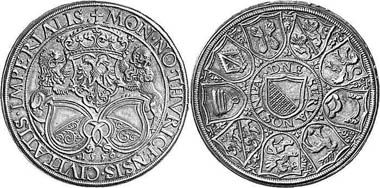 Zurich. Thaler 1559 of Jakob Stampfer. From Leu Numismatik AG Auction 85 (2002), 555.