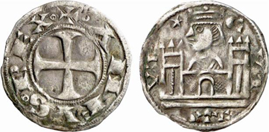 Alfonso VIII, 1158-1214. Dinero, Cuenca(?). From Künker 137 (2008), 3422.