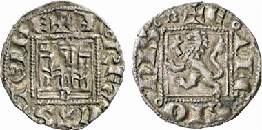 Alfonso XI, 1312-1350. Noven, Burgos. From Künker 137 (2008), 3442.