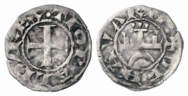 Thibaut II, 1253-1270. Denier. From Künker auction 152 (2009), 5191.