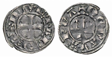 Jeanne I, 1274-1305. Denier. From Künker auction 152 (2009), 5192.