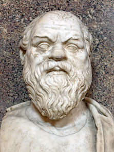 Bust of Socrates. Marble, Roman copy after a Greek original from the 4th century BC. From the Quintili Villa on the Via Appia. Photo: Jastrow / Wikipedia.