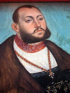 John Frederick I, Elector of Saxony, called The Magnanimous, painted by Lucas Cranach 1535. Photo: KW.