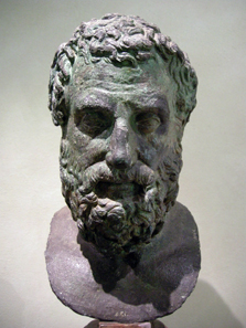 Bronze bust of Aeschylus. Photo: Sailko / Wikipedia. http://creativecommons.org/licenses/by-sa/3.0/deed.de.