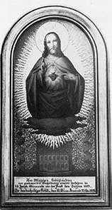 Votive picture depicting the Sacred Heart of Jesus, below the old building of the Vienna Mint in the Wollzeile.