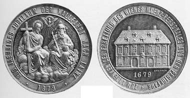 Medal on the anniversary of the pilgrimage in 1879.