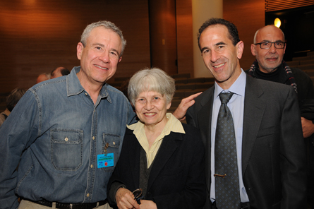 From left: David Hendin, ANS adjunct curator; Prof. Alla Kushnir-Stein, recipient of the Meshorer Prize; Dr. Haim Gitler, curator of numismatics at the Israel Museum and president of the Israel Numismatic Society.