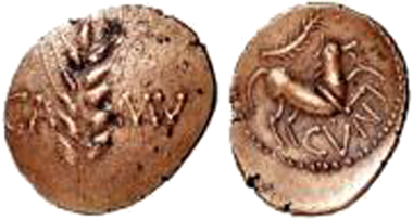 Fake Cunobelin quarter stater.