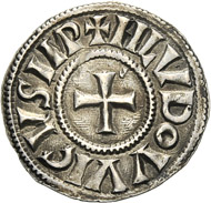 Louis the Pious. Denarius, Venice, around 819-822. Of great rarity. From the collection of Count Zoppola and Pierre Stettiner. From upcoming Künker sale, Collection Edoardo Curti (March 2013), lot 2133. Estimate: 15,000 euros.