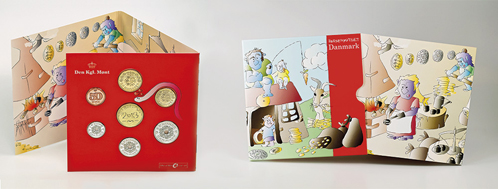 The coin set for children comes with a leaflet.