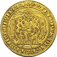 Philipp VI, 1328-1350. Pavillon d'or, no year (June 8, 1339). Duplessy 251. Extremely fine. From the Dr Edoardo Curti Collection, upcoming Künker auction (March 2013), No. 2443. Estimate: 10,000 euros.