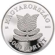 Hungary / 3,000 HUF / .925 silver / 30mm / 12.5g / Design: Andras Szilos / Mintage: 4,000.