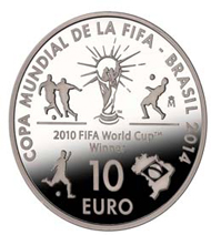 Spain / 10 euros / .925 silver / 40mm / 27g / Mintage: 10,000.