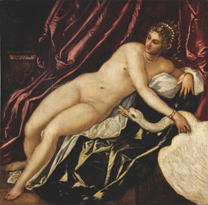 Leda and the swan, 16th century, Jacopo Robusti, better known as Tintoretto. Oil on canvas. © Galleria degli Uffizi, Firenze, su concessione del Ministero per i Beni e le Attività Culturali.