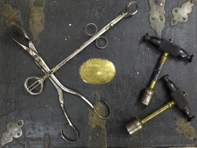 Doc Goodfellow's Surgical Instruments. This second-hand set of Civil War surgical instruments was used by Tombstone doctor, Dr. George Emory Goodfellow, to perform the autopsies on Billy Clanton and the McLaury brothers, who died in the Gunfight at the O.K. Corral (Tombstone, Arizona Territory) in 1881. Goodfellow never bothered to change the nameplate of the original owner of the surgical equipment.