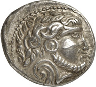 90: Celtic coins. PANNONIA. Tetradrachm, Bartkranzavers type, 2nd/1st cent. B. C. Kostial 410. Extremely fine. Estimate: 1,500 euros. Hammer price: 6,500 euros.