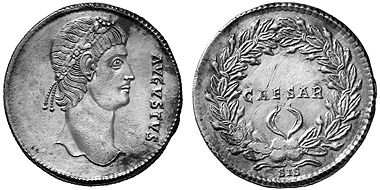 CONSTANTINE THE GREAT, 307-337. Silver medallion of 4 Siliquae, Siscia, 336-337. AVGVSTVS Rosette-diademed head of Constantine r. Rv. CAESAR in laurel wreath, in exergue, SIS 13,20 g. RIC VII, 459, 259. Scratch on rev., otherwise extremely fine.