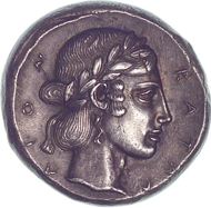 Katane (Sicily). Tetradrachm. From Bank Leu auction 71 (1997), 50.