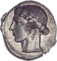 Leontini (Sicily). Tetradrachm. From Triton auction I (1997), 257.