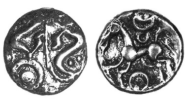 Drayton Dragons silver unit, c.50-30 BC, ABC 890. Only three others recorded.