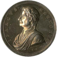 Commemorative medal depicting Sir Isaac Newton (1642-1727) by John Croker. © Trustees of the British Museum.