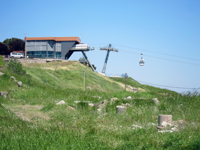 Cable car up to the acropolis of Pergamum. Photo: KW.