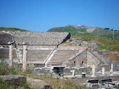 Theatre of the Asclepieion. Photo: KW.