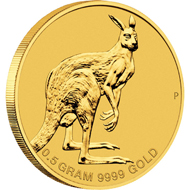 Australia / 2 AUD / 0.016oz .9999 gold / 0.5 g / 11.60 g / Design: Wade Robinson / Mintage: Mint-to-order.