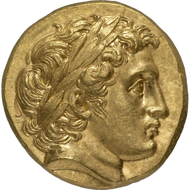 Alexander III, King of Macedonia (336-323 BC). Gold stater of the type introduced under his father, Philip II (359-336 BC), Colophon (Ionia), 324 BC. © MoneyMuseum.