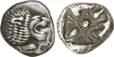 Miletus 1/12 stater. Gorny & Mosch 200 (2011), 1818.